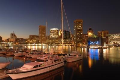 Baltimore Ravens - Marina at night