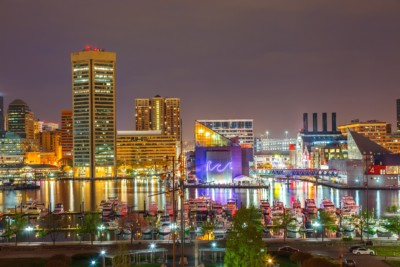 Baltimore Ravens - Skyline at night