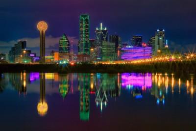 Dallas Cowboys - skyline at night