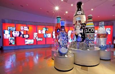 Atlanta Falcons - World of CocaCola Folk Art Bottles