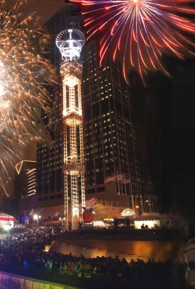 Atlanta Falcons - New Years' Peach Drop