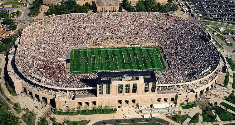 Notre Dame Stadium Touchdown Trips