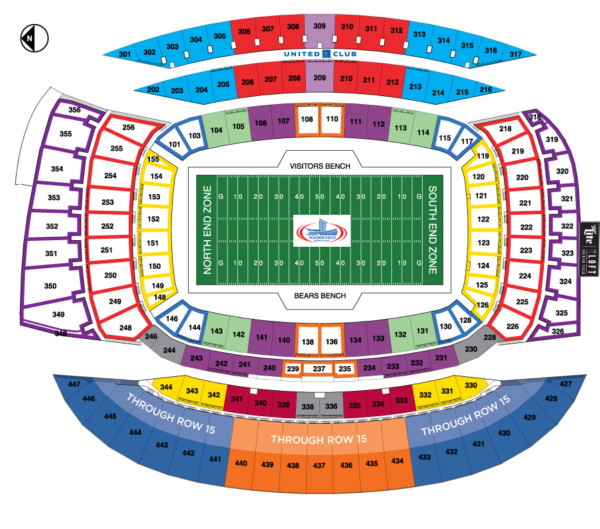 NFL 100 Season - Soldier Field Seating Chart