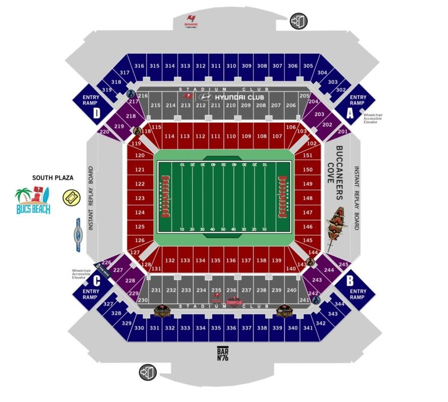 Touchdown Trips | Tampa Bay Buccaneers | Raymond James Stadium Seating Chart