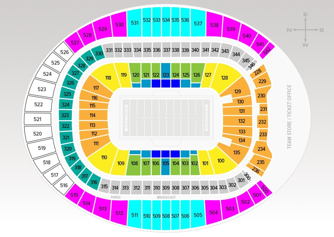 Touchdown Trips | Denver Broncos | Empower Field at Mile High Seating Chart