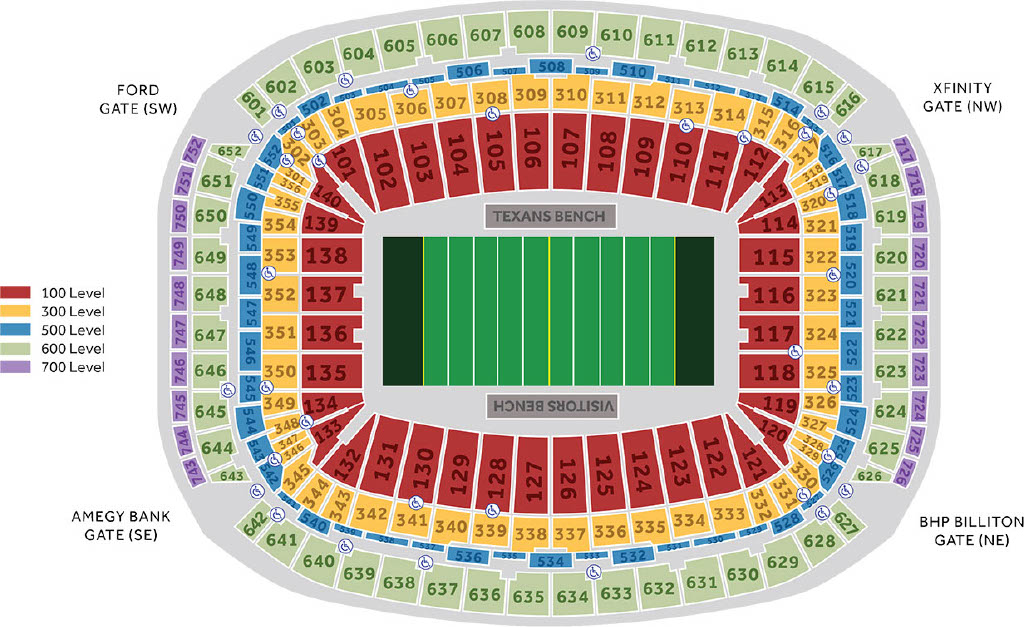 Touchdown Trips | Houston Texans | NRG Stadium Seating Chart