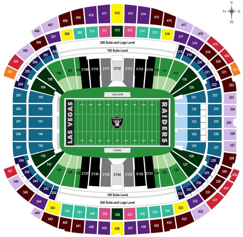 Touchdown Trips | Las Vegas Raiders | Allegiant Stadium Seating Chart