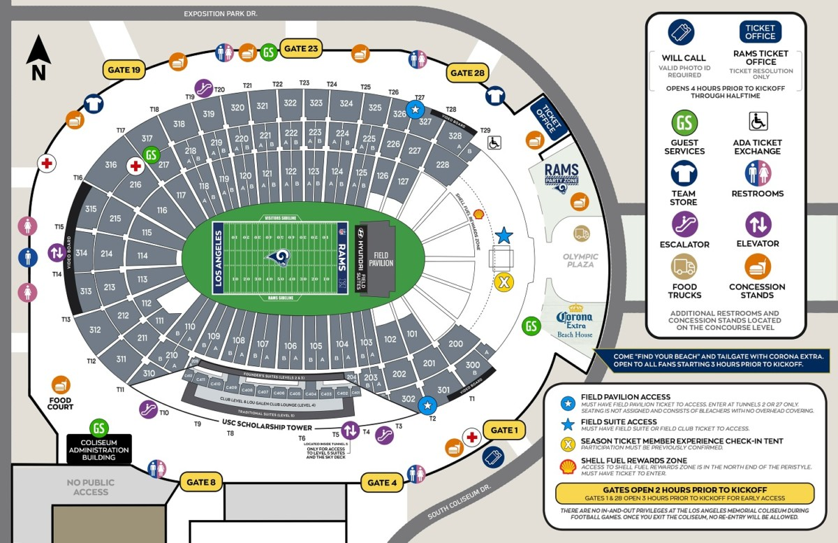 Touchdown Trips | Los Angeles Rams | SoFi Stadium Seating Chart