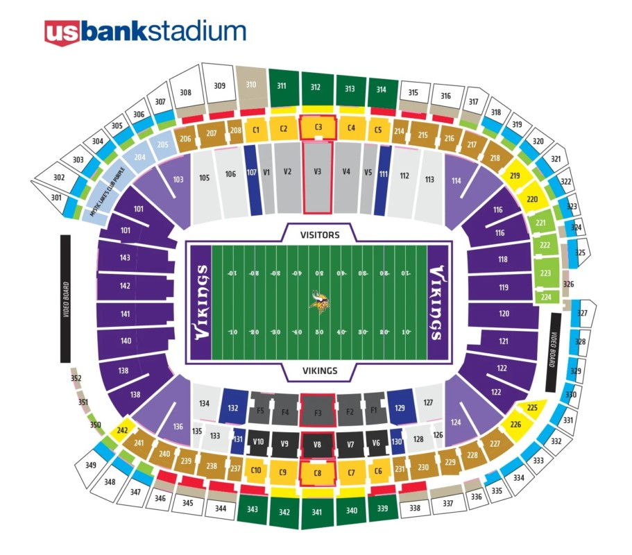 Touchdown Trips | Minnesota Vikings | US Bank Stadium Seating Chart