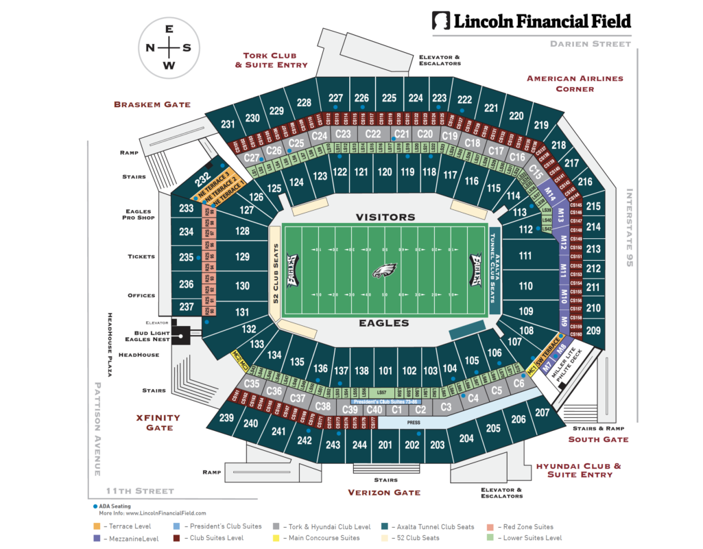Touchdown Trips | Philadelphia Eagles | Lincoln Financial Field Seating Chart
