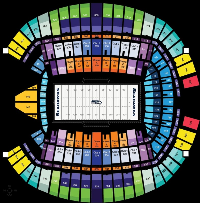 Touchdown Trips | Seattle Seahawks | CenturyLink Field Seating Chart