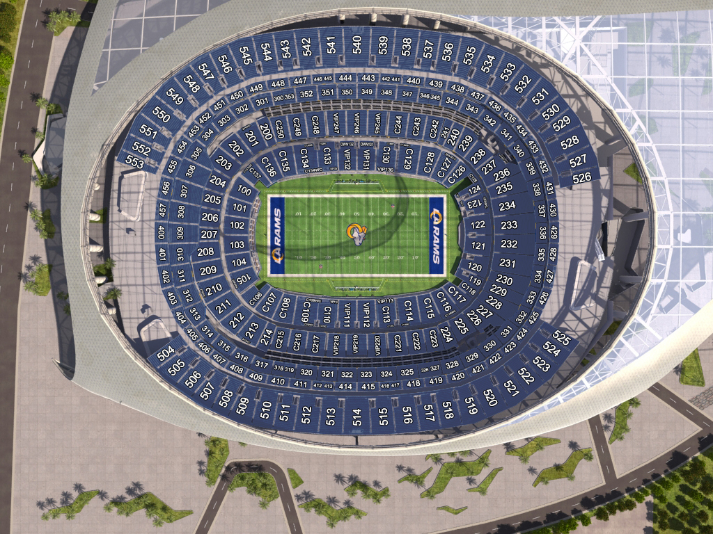 Super Bowl LVI - Sofi Stadium Seating Chart
